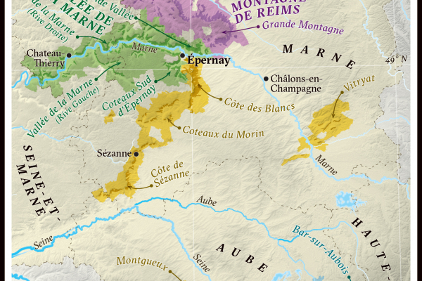 map of champagne region